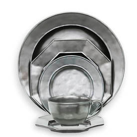 Juliska Pewter Stone Five Piece Placesetting