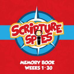 Red Scripture Spies Memory Book