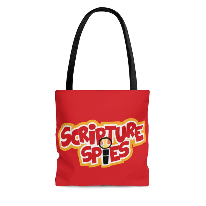 Scripture Spies Tote Bag