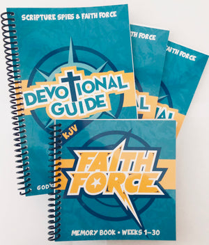 Faith Force Bundle - 1 Memory Book + 3 Devotional Books