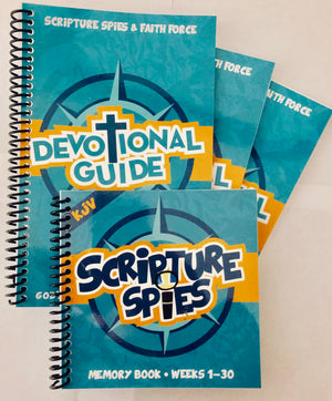 Scripture Spies Bundle - 1 Memory Book + 3 Devotional Books