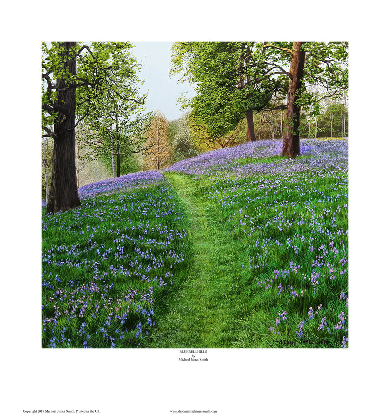 """bluebell hills"" Open edition print"