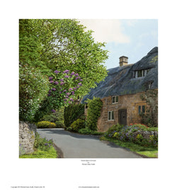 """THATCHED COTTAGE"" Open edition print"