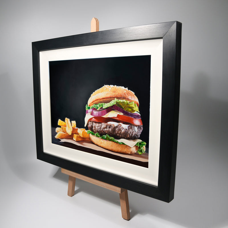 """The Burger""  Original Oil Painting"