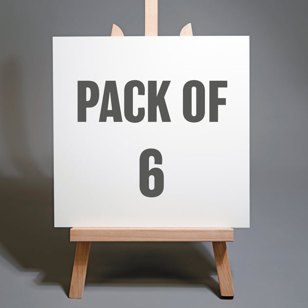 Pack of Six 12 x 12 inch Artists Exhibition Panels