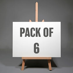 Pack of Six 12 x 16 inch Artists Exhibition Panels