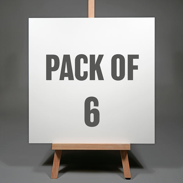 Pack of Six 16 x 16 inch Artists Exhibition Panels