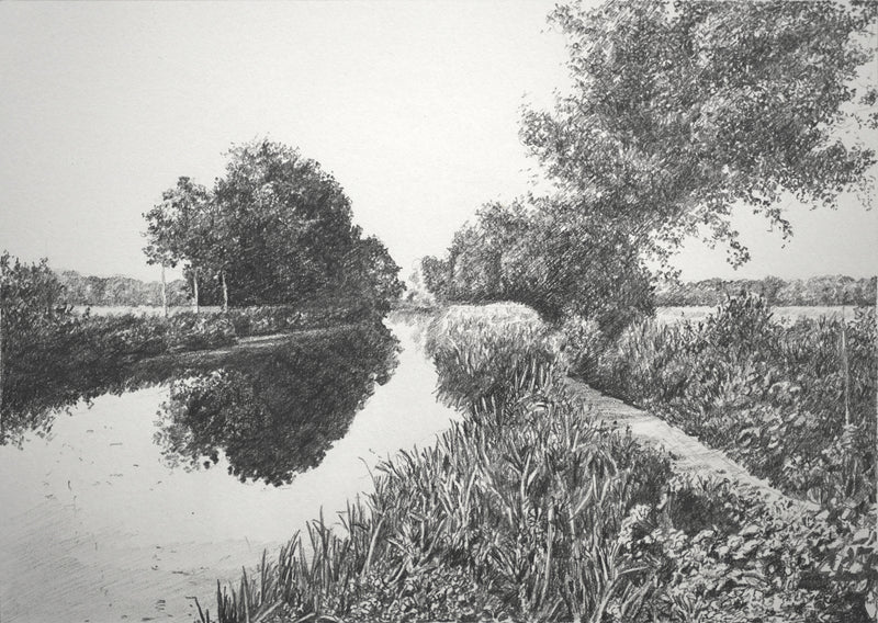 """The River Chelmer"" Original Sketch"