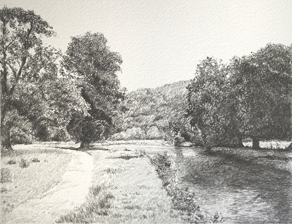 """The River Derwent"" Original Sketch"