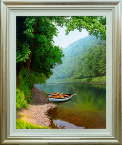 ROWING BOATS | ORIGINAL OIL PAINTING