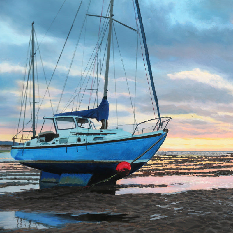 LOW TIDE | ORIGINAL OIL PAINTING