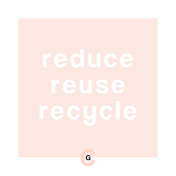 HOW TO REDUCE WASTE WITH THE 3 R'S