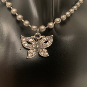 Crystal Butterfly ball chain choker
