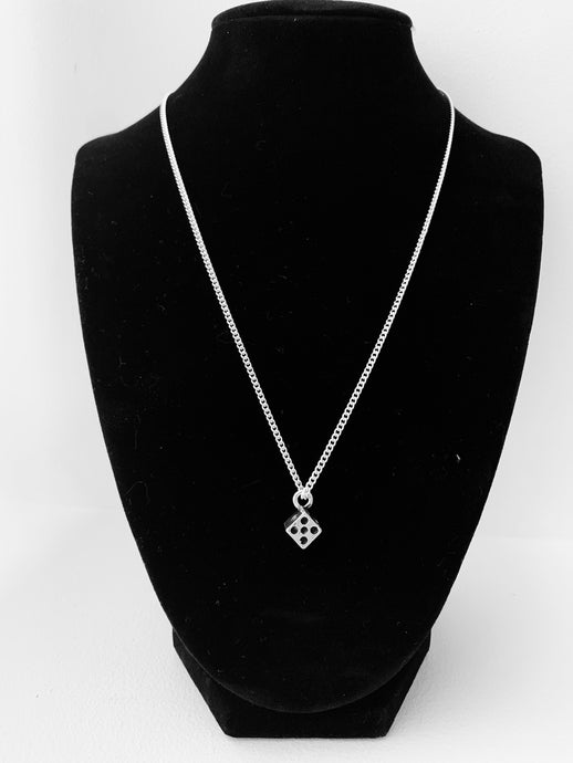 Plated silver dice necklace