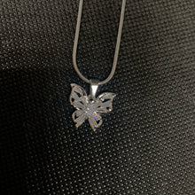 Load image into Gallery viewer, Crystal butterfly necklace