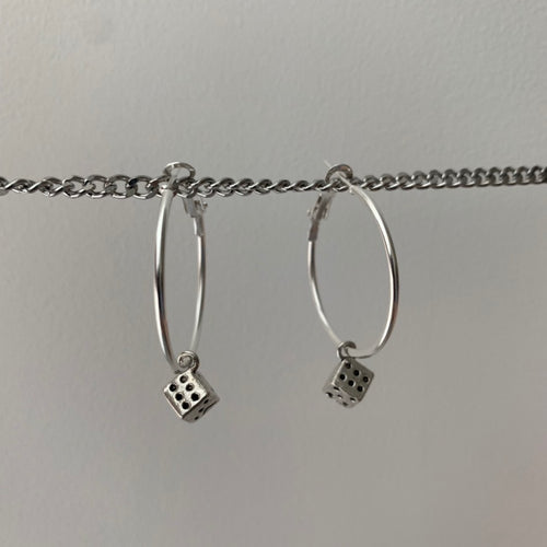 Dice hoop earrings (large)