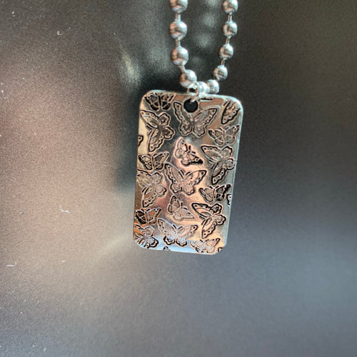 The Butterfly Dog Tag Necklace