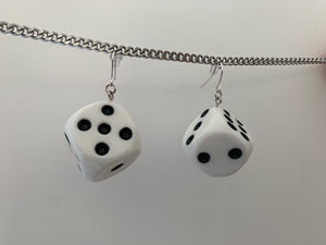 Big dice earrings