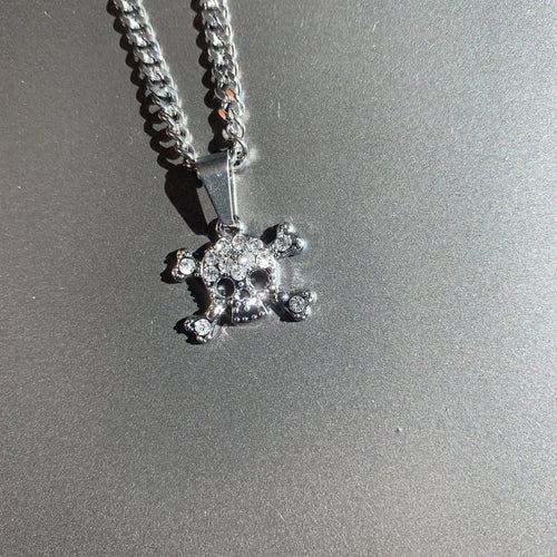 The Crystal Crossbones Necklace