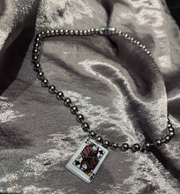 Load image into Gallery viewer, Playing card ball chain choker