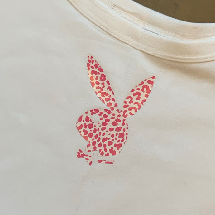 Pink and White Cheetah Playboy Tank