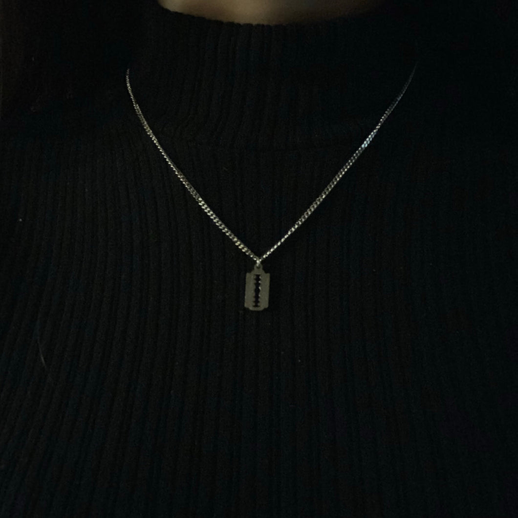 The Mini Razor Blade Necklace
