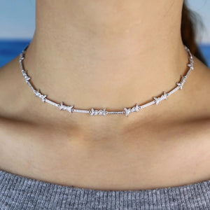 Crystal barbed wire choker