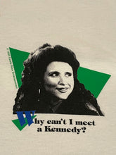 Vintage 1993 Seinfeld Elaine Why Can't I meet a Kennedy T-Shirt DSWT Size L