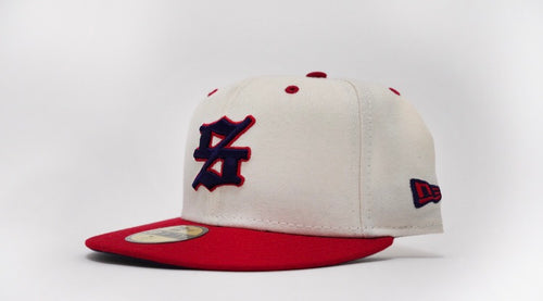 "SLCT Stock X New Era 59Fifty Fitted Cap ""Everyday Cap"" Cream/Crimson"