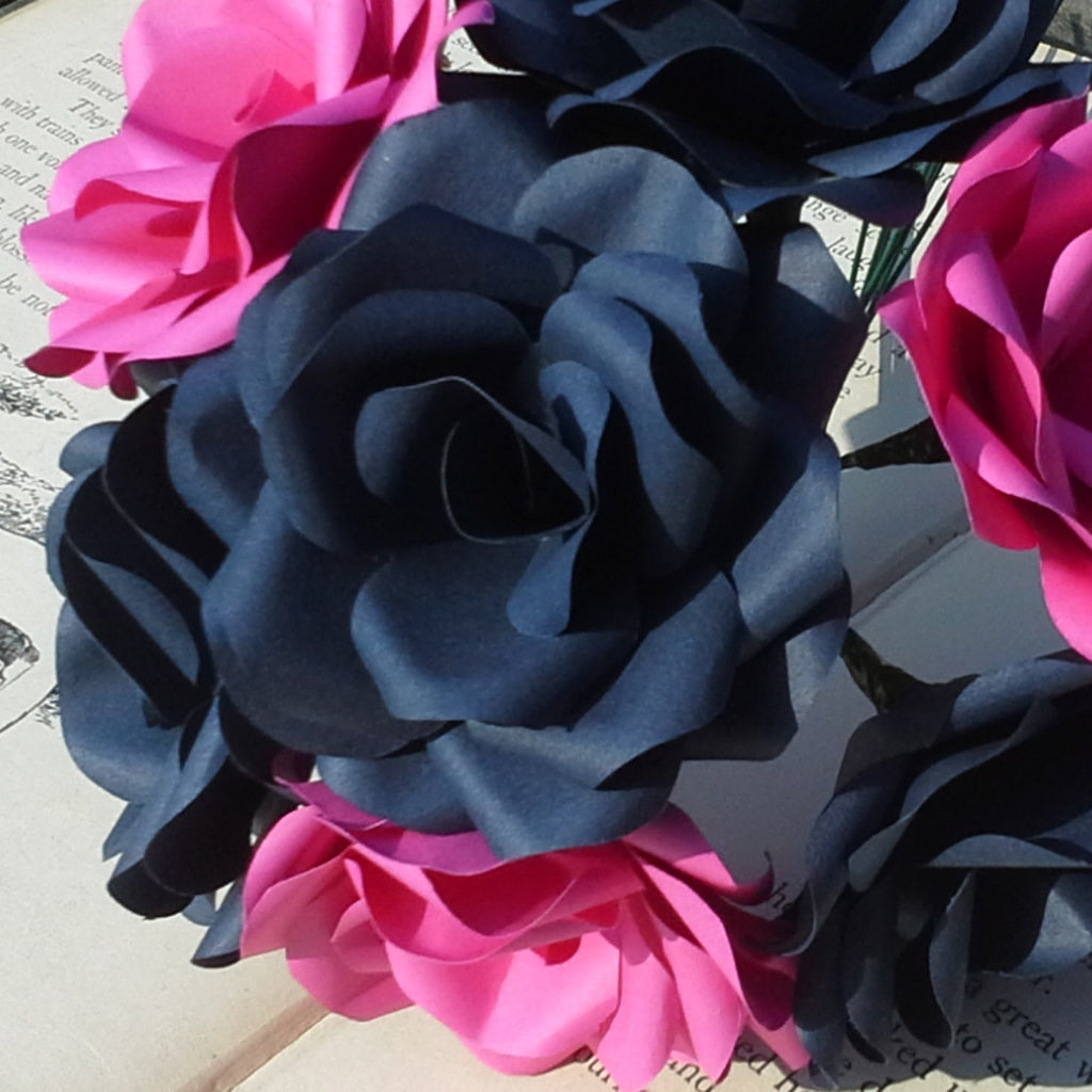 Navy Blue Hot Pink Paper Flowers Paper Flowers By Nicky
