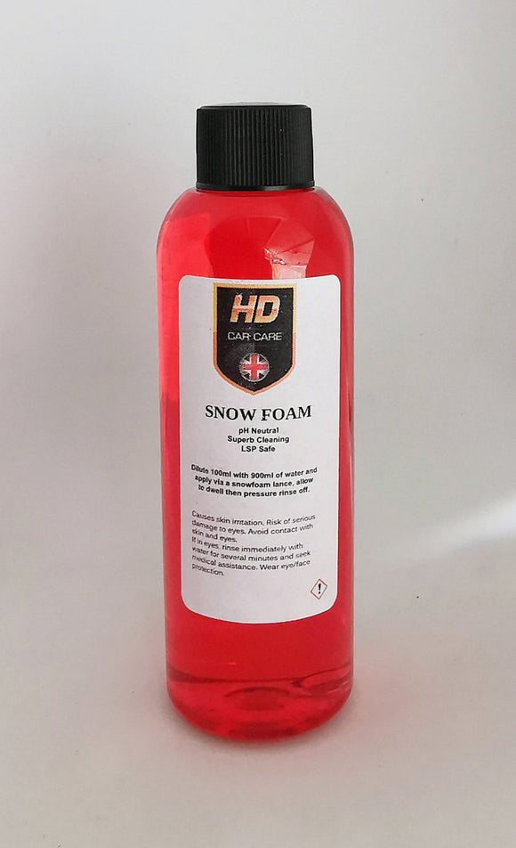 HD Valeting pH Neutral Snowfoam 100ml - Clean Your Ride