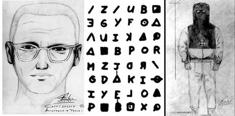 Zodiac Killer Sketch and Letter