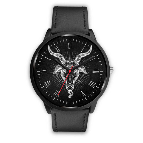 From The 6 • Black Wrist Watch - Grave Dirt Clothing