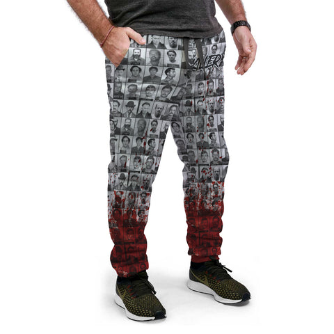 Killer Series | Bloody Variant - Black & Grey Joggers - Grave Dirt Clothing