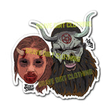 "Jessica Stabbit • 3"" Vinyl Stickers - Grave Dirt Clothing"