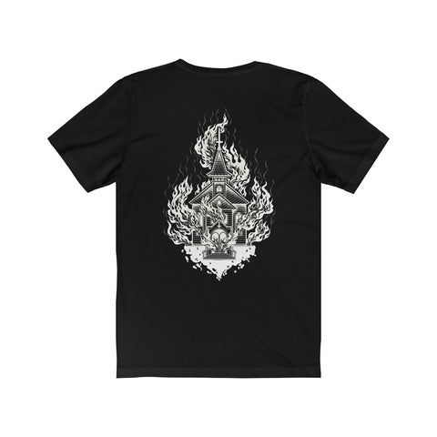 Burning Church Hymns • Unisex Tee - Grave Dirt Clothing