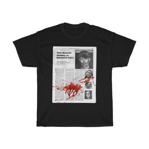 Secret hobby Tabloid - Ed Gein | Unisex Heavy Cotton Tee