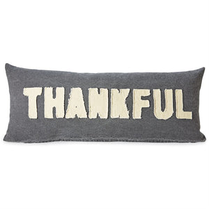 Thankful Washed Canvas Pillow