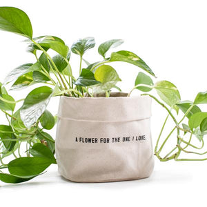 Large Canvas Lined Planter Pouch - Multiple Quotes