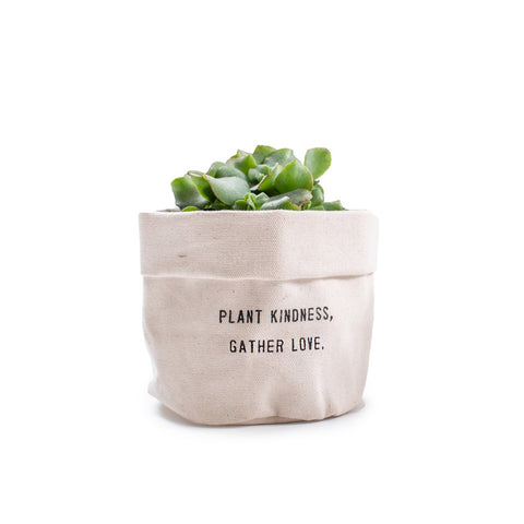 Small Canvas Lined Planter Pouch