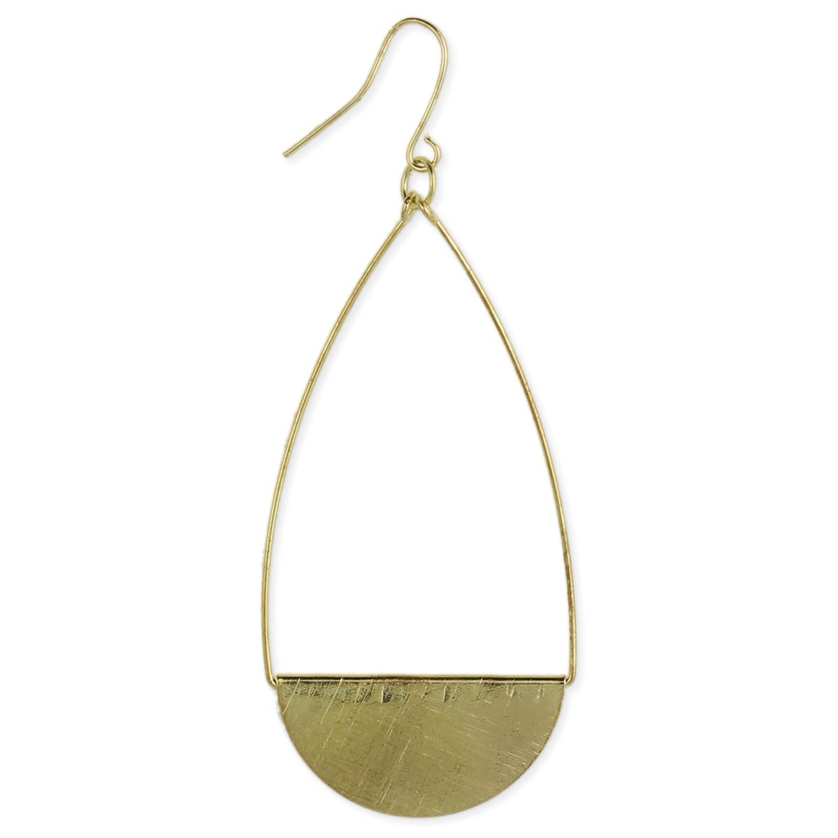 Brushed Gold Teardrop Earring