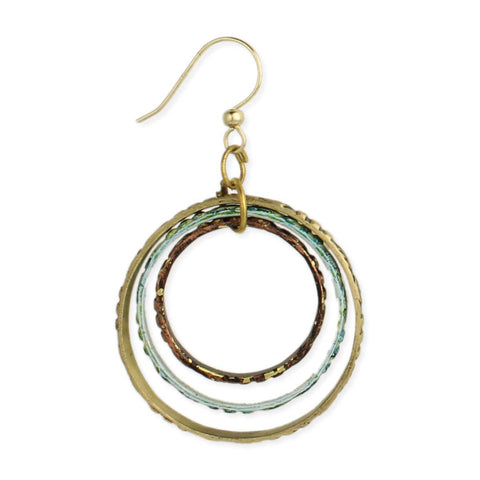 Bullseye Mixed Metal Round Earring