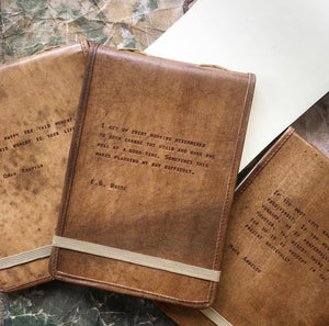 Leather Bound Quote Journals