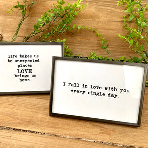 Easel Framed Sayings