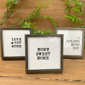 Mini Easel Framed Sayings
