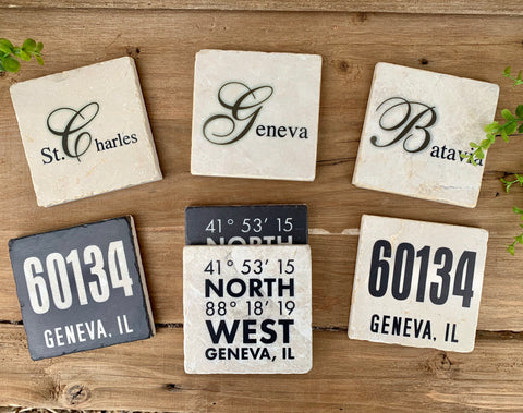 City Marble Coasters