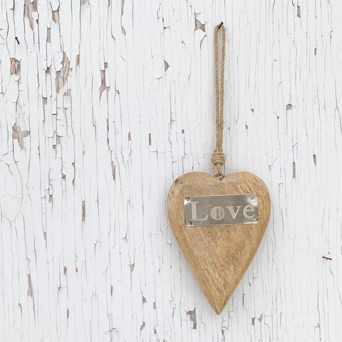Wood Hanging Heart