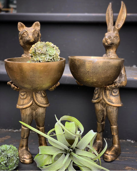 Standing Rabbit with Bowl