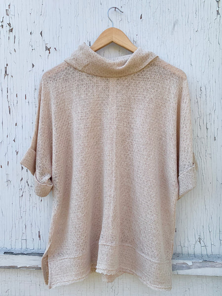 Cowl Pointelle Top