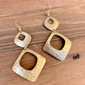 Gilded Statement Earrings